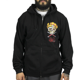 hoodie men's - Damon Badge - SULLEN - BLK