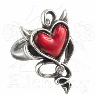 ring ALCHEMY GOTHIC - Devil Heart - ULFR6