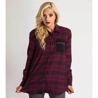 shirt women's METAL MULISHA - SCHOOLS OUT Flannel - BUR