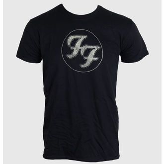 t-shirt men FOO FIGHTERS - LOGO IN GOLD CIRCLE - BLACK - LIVE NATION - PEFFI062