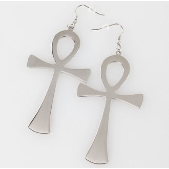 earrings KILLSTAR - Ankh - Silver