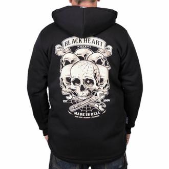 Schlupfjacke Windbreaker GEFÜTTERT Ich trage SCHWARZ 666 Heavy Metal dark Skull