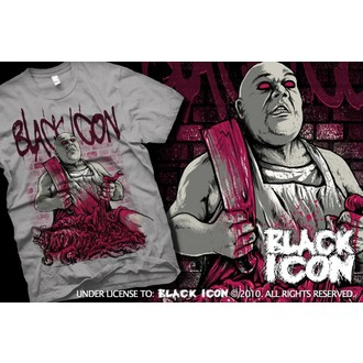 t-shirt hardcore men's - Grey - BLACK ICON - MICON055