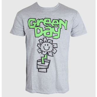 t-shirt men Green Day - Flower Pot - Grey - ROCK OFF - GDTS10MG