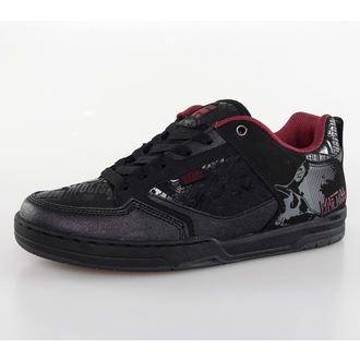 low sneakers men's - METAL MULISHA - Black/Red/Grey