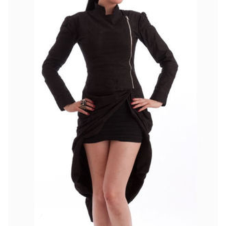 coat women's spring/fall NECESSARY EVIL - Lalita Draped - Black - N1184
