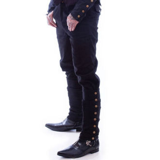 pants NECESSARY EVIL - Chronus Men Adjustable Steampunk - Black - N1096