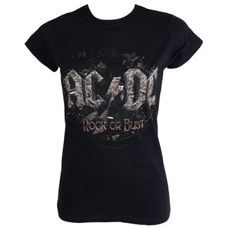 t-shirt metal women's AC-DC - Rock Or Bust - LIVE NATION - PE12105SKBPL
