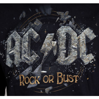 hoodie men AC / DC - Rock Or Bust - Black - LIVE NATION - PEACDC4006