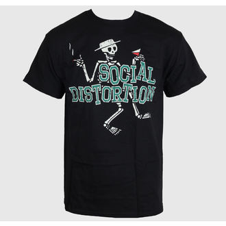 t-shirt men Social Distortion - Letterman Skully - Bravado - SCD1019