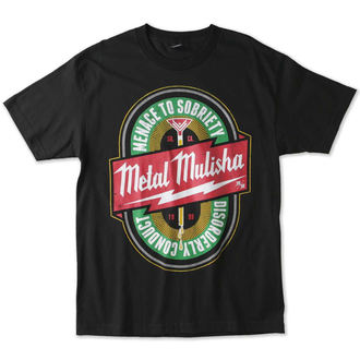 t-shirt street men's - SOBRIETY - METAL MULISHA - M15518130E.01_BLK