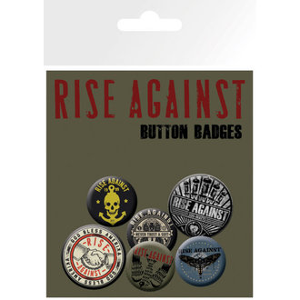 badges Rise Against - Shaking Hands - GB Posters - BP0504