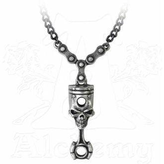 necklace ALCHEMY GOTHIC - Piston Head - Skull - ULP40