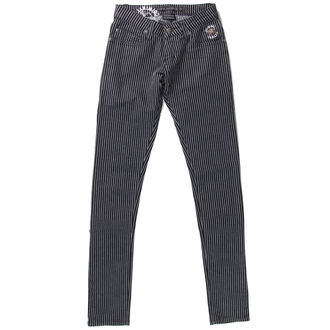 pants women CRIMINAL DAMAGE - Black / White - NS202