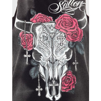 top women SULLEN - Sacred Skull Muscle - Black