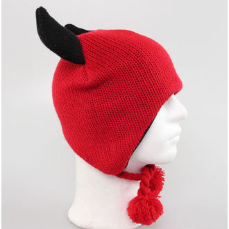 beanie - Red / Black - W12AN75