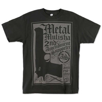 t-shirt street men's - Supporter - METAL MULISHA - BLK