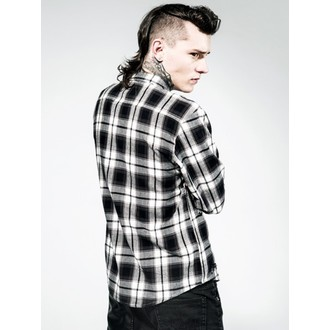 shirt men Disturbia - Aberdeen - Black / Grey - DIS629