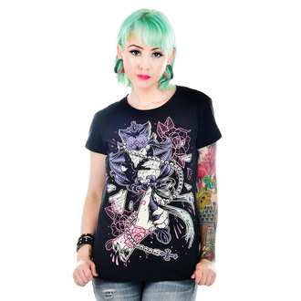 t-shirt gothic and punk women's - Black - TOO FAST - WTSB-T-BATTY