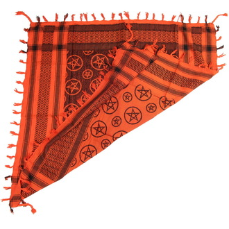 kerchief ARAFAT - palestine - PENTAGRAM - ORANGE
