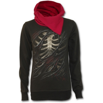hoodie women's SPIRAL - Rose Tattoo - Black - T045F268