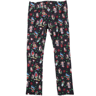 pants women HELL BUNNY - Black - POP5114B