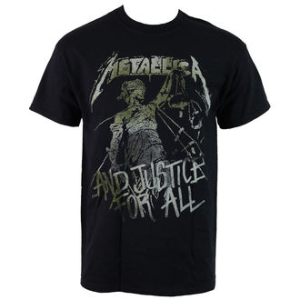 t-shirt metal men's Metallica - Vintage Justice - LIVE NATION - PE13127TSBP