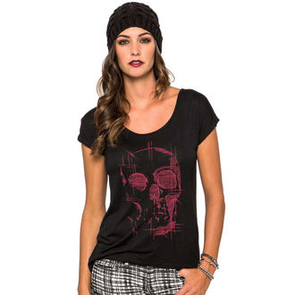 t-shirt street women's - Death Trip - METAL MULISHA - BLK