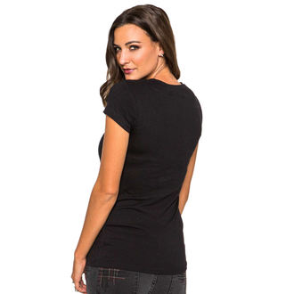 t-shirt street women's - Webbed - METAL MULISHA - BLK