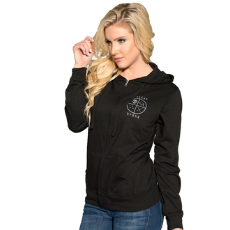 hoodie women's - 5 Point Star - SULLEN - BLK