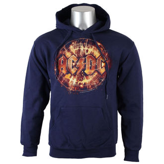 hoodie men AC / DC - Navy Electric Explosion Logo - LIVE NATION