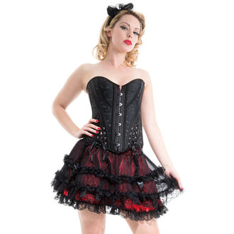 corset women's HEARTS AND ROSES - Black Embroidery - 1277