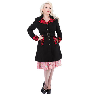 coat women's spring/autumn HEARTS AND ROSES - Black Red Flocking, HEARTS AND ROSES
