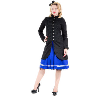 coat women's spring/autumn HEARTS AND ROSES - Black Military Cyber Rave, HEARTS AND ROSES