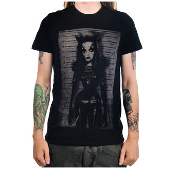 t-shirt gothic and punk men's - Catty - TOO FAST - Black