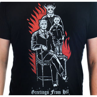 t-shirt gothic and punk men's - Greetings From Hell - TOO FAST