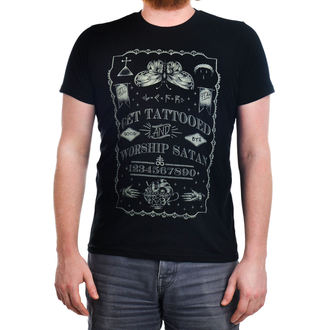 t-shirt gothic and punk men's - Get Tattooed & Worship Sa - TOO FAST - Black