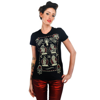 t-shirt gothic and punk women's - Horror Nation - TOO FAST - Black