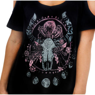 t-shirt gothic and punk women's - Cosmic Cow - TOO FAST