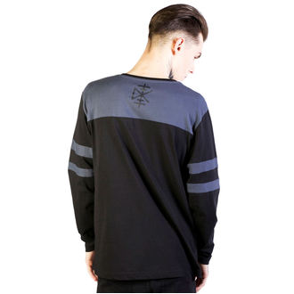 t-shirt men with long sleeve Disturbia - Temple - Black/Grey - DIS792