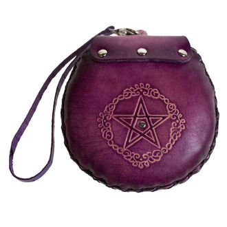 wallet Pentagram Leather Purse Purple - B1099D5