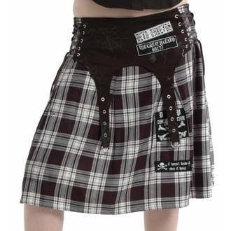 skirt women's DEAD Threads - Black / White - SC8830
