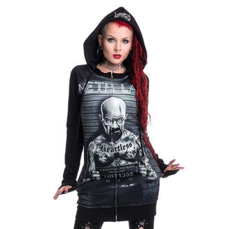 hoodie women's - Mr Meth - HEARTLESS - Black
