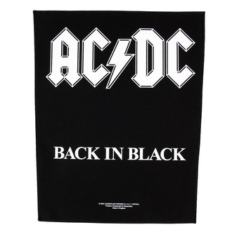 patch large AC / DC - Back In Black - RAZAMATAZ, RAZAMATAZ, AC-DC