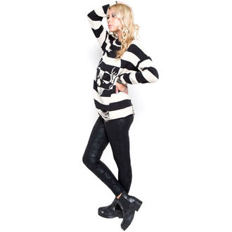 sweater women's IRON FIST - Urban Decay Stripe - BLK / Offwht - IF003693