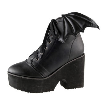 high heels women's - Bat Wing - IRON FIST - 70751IFLLIC-Black/Black