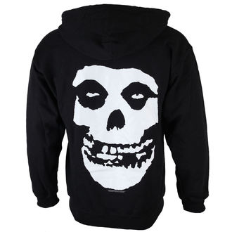 hoodie men Misfits - Skull And Logo - Black - LIVE NATION - PE12656HSBP