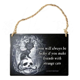 hanging plaque ALCHEMY GOTHIC - Strange Cats, ALCHEMY GOTHIC