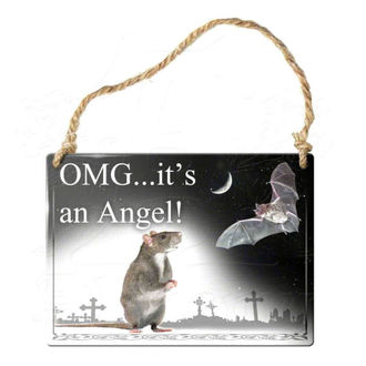 hanging plaque ALCHEMY GOTHIC - OMG Its A Angel, ALCHEMY GOTHIC