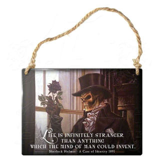 hanging plaque ALCHEMY GOTHIC - Life Is Infinitely Stranger - ALHS9